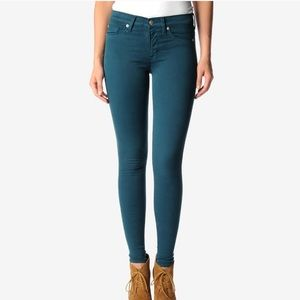 Hudson | Emerald Green Nico Mid-Rise Skinny Jeans